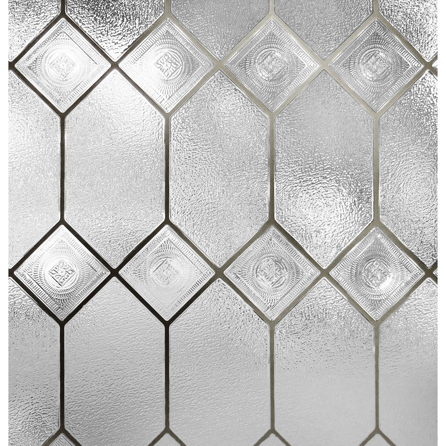 24 In W X 36 In L Textured Stained Glass Privacy Decorative Static