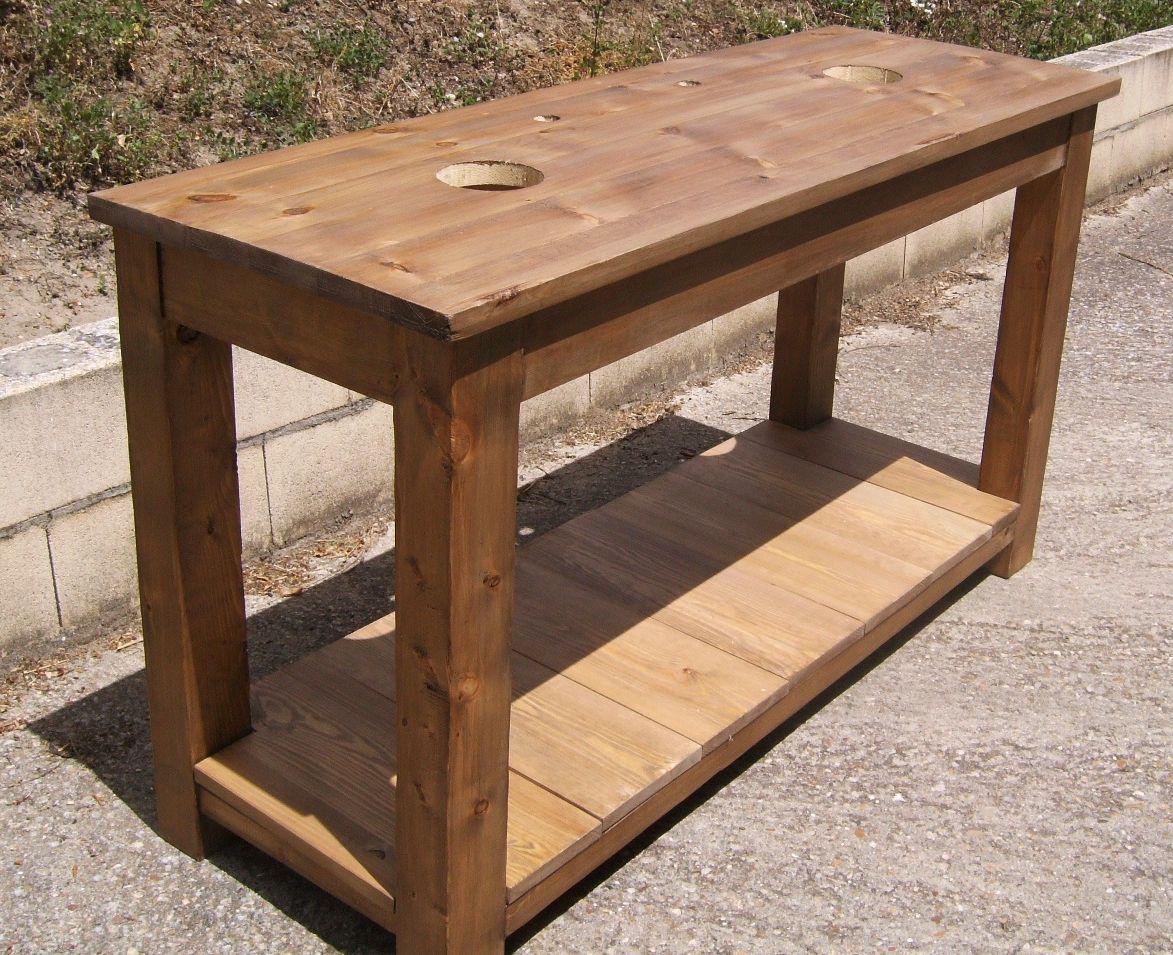 Mesas de cocina de madera como hacer buscar con google for Muebles rusticos uruguay