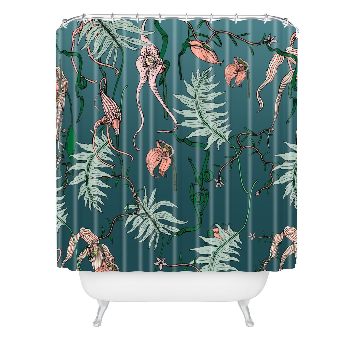 Deny Designs Holli Zollinger Orchid Botanical Shower Curtain Reviews Shower Curtains Bed Bath Macy S Design Curtains Baby Clothes Shops