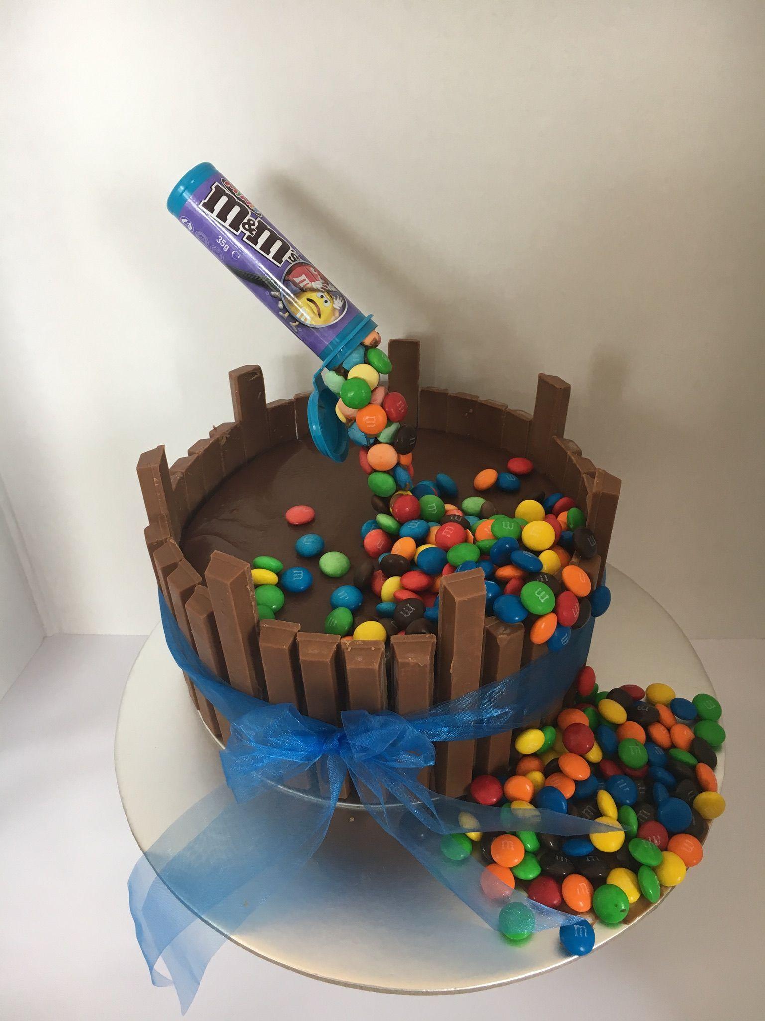 Antigravity cake with mms cake anti gravity cake
