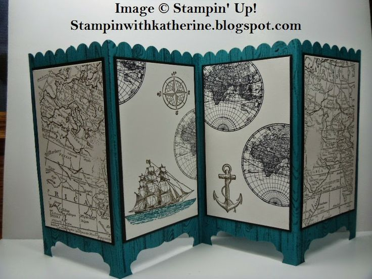 stampin up screen divider cards | Stampin with Katherine: Stampin' Up! Screen card tutorial