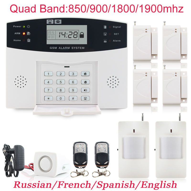 Great Discount Prices High Quality Wireless Wired LCD GSM Home Security DIY Burglar  House Alarm Systems