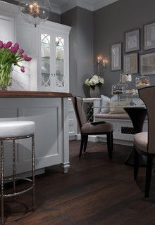 A Romantic Contemporary Kitchen Getaway - traditional - kitchen - by Plain & Fancy Custom Cabinetry