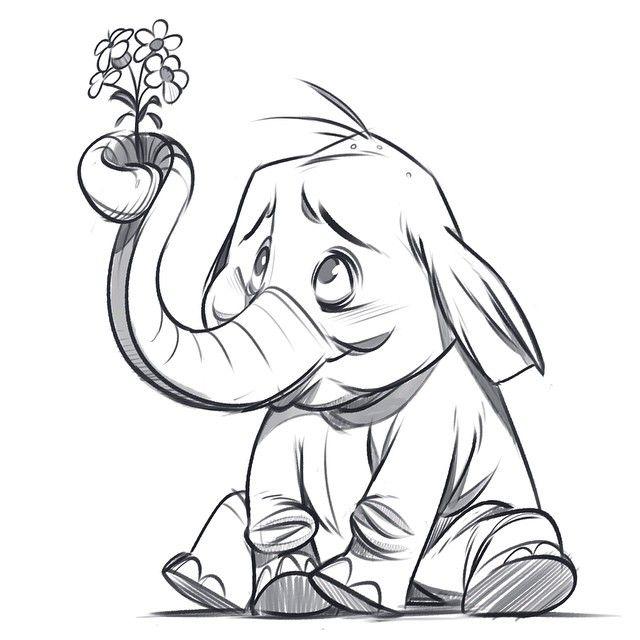 Смешные животные рисунок карандашом