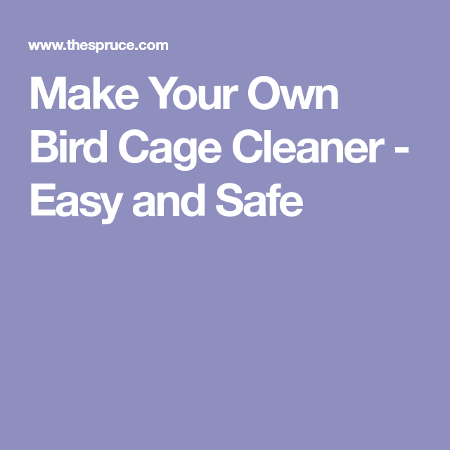 Make Your Own Bird Cage Cleaner - Easy and Safe Pet Bird Cage, Make It