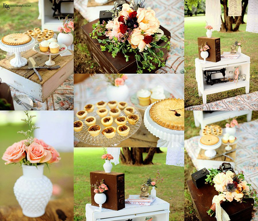 #picnic decor for #engagement session #wedding #vintage