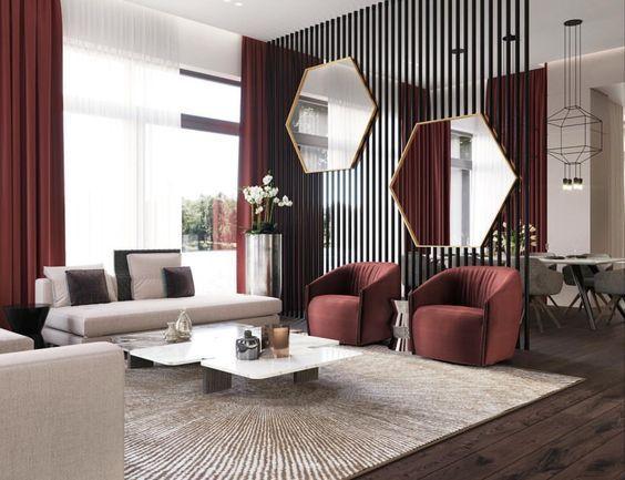 Decoraci n de salas con espejos decoracion de salas con for Espejos rectangulares para sala