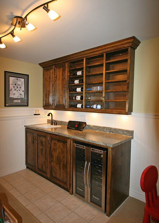 Built In Wet Bar Sink Another View Of The Rec Room Showing The