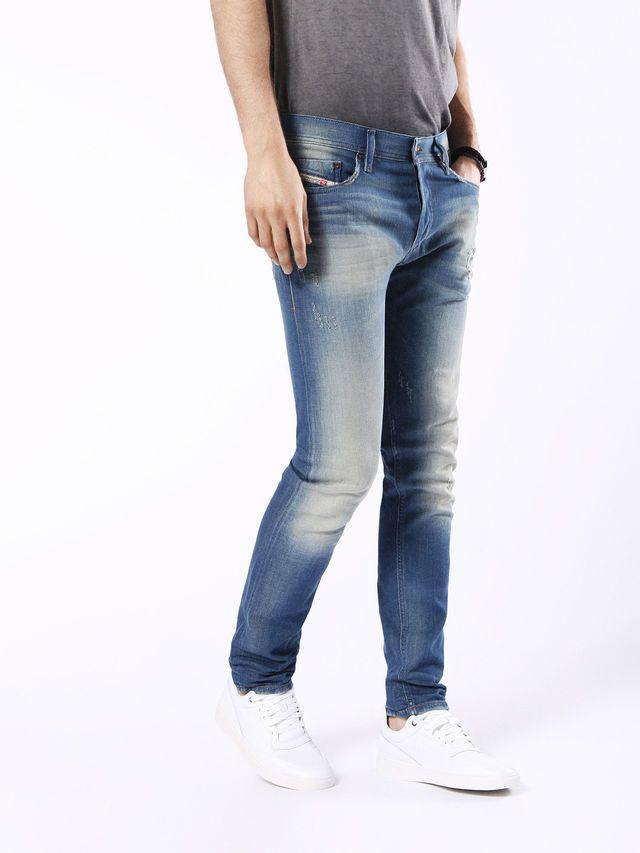 fd38cd78 Diesel TEPPHAR 0854V Carrot Fit Regular Waist Treated Stretch Jeans in  Light Blue from the Diesel Online Store #DieselOnlineStore #TEPPHAR0854V