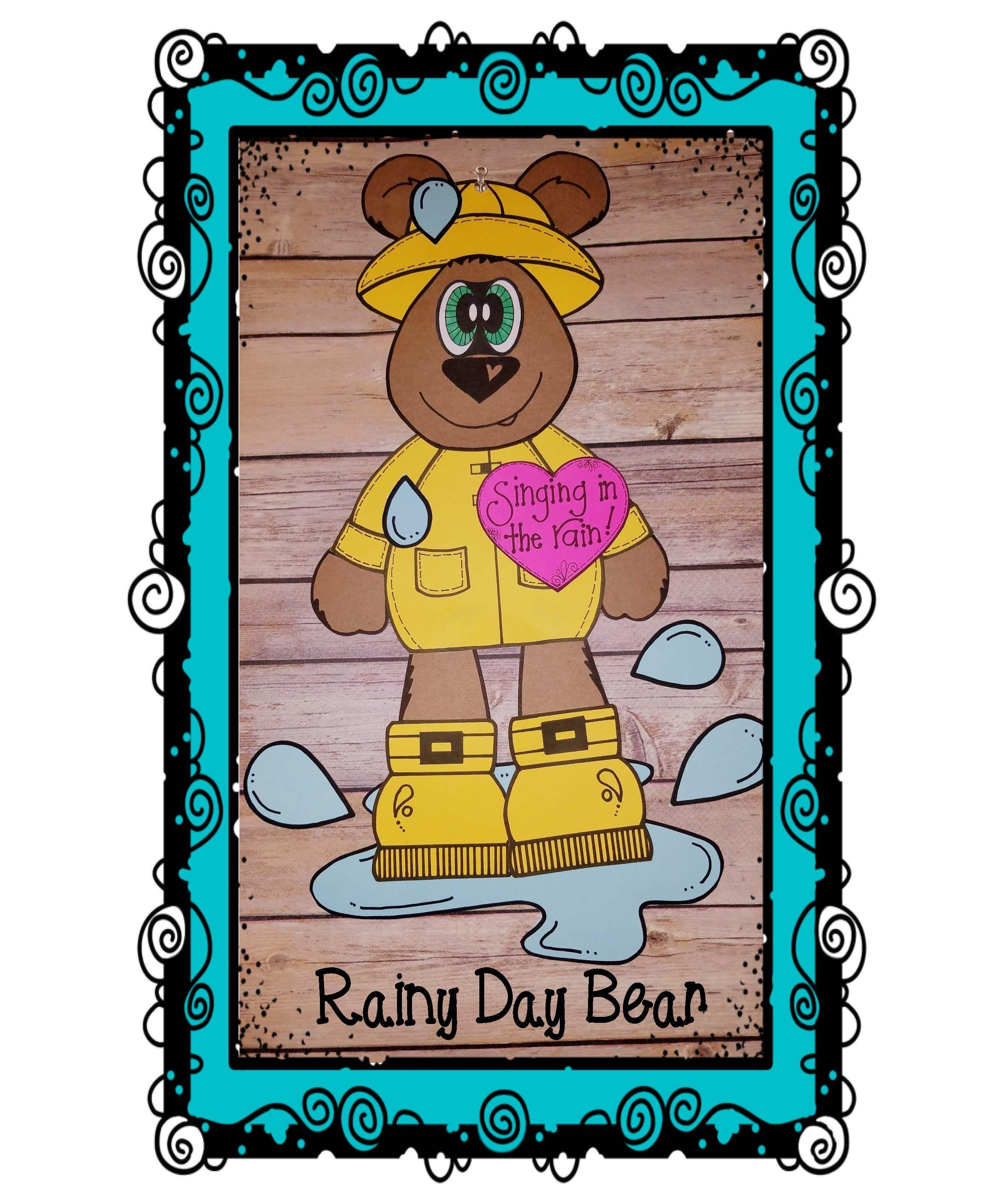 Spring Craft Rainy Day Bear Craft