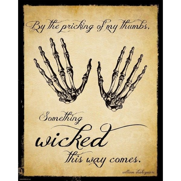Something Wicked This Way Comes Shakespeare Literary Quote. Vintage ...