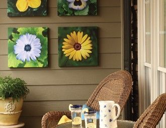 I pinned this from the Color Garden - Bright Outdoor Wall Art, Rugs & Pillows for Your Garden event at Joss & Main! by daniela.cruvinel.37