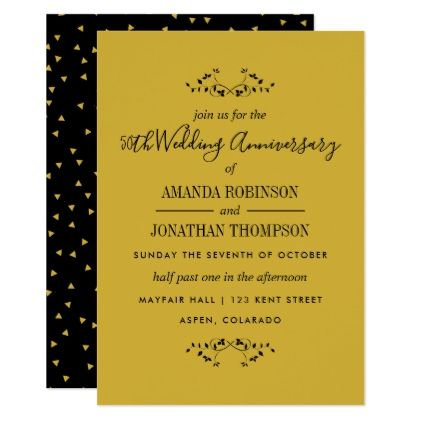 50th golden wedding anniversary invitation wedding invitations 50th golden wedding anniversary invitation wedding invitations cards custom invitation card design marriage party stopboris Gallery