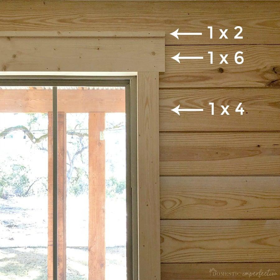 Simple Farmhouse Window Trim in 2020 Farmhouse window