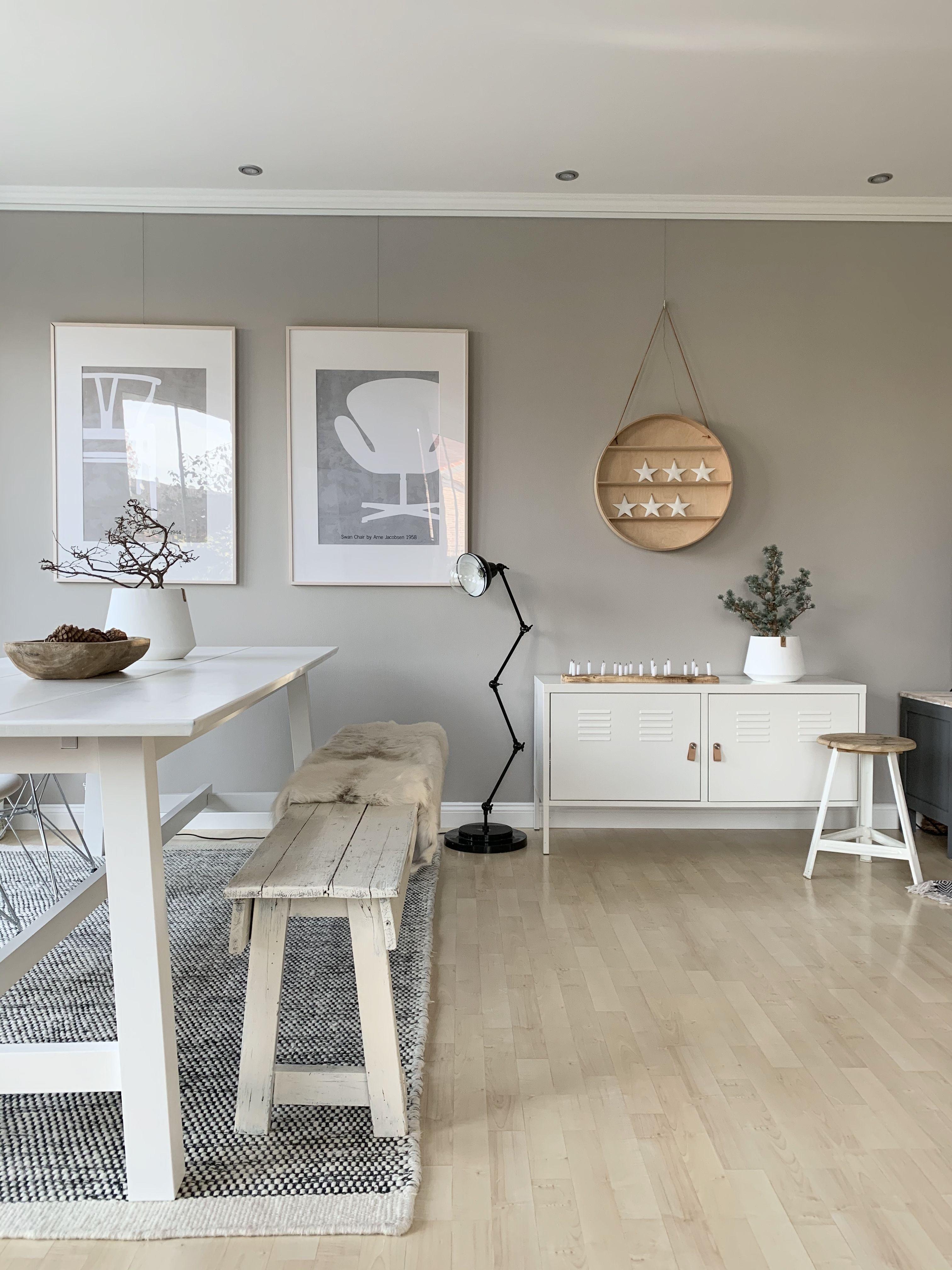 Wohn Und Esszimmer In Greige Kolorat In 2020 Wandfarbe Wohnzimmer Graue Wande Wohnzimmer Weisse Wande Wohnzimmer