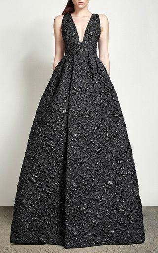 Lynda Floral V Gown by Alex Perry for Preorder on Moda Operandi