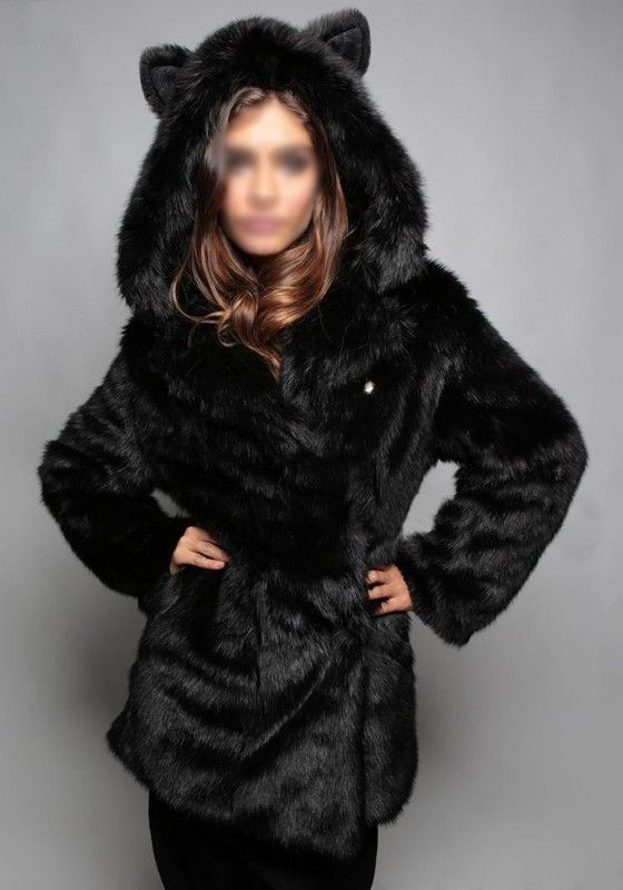Manteau fausse fourrure femme solde