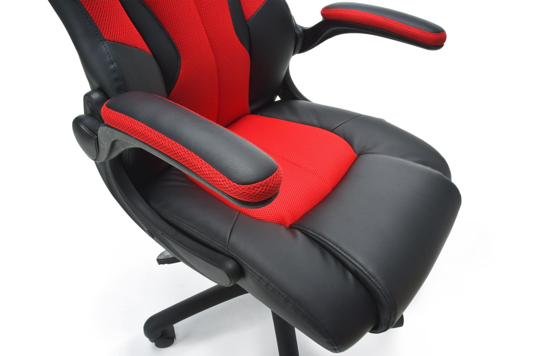 Essentials Racing Style Leather Gaming Chair Ergonomic Swivel Computer Office Or Gaming Chair Red Ess3086red Check Out The Image Chair Bonded Leather Ofm