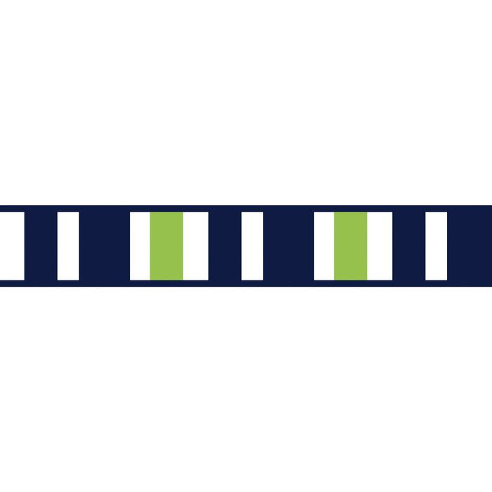 "Stripe 15' L x 6"" W Smooth Wallpaper Border Striped"
