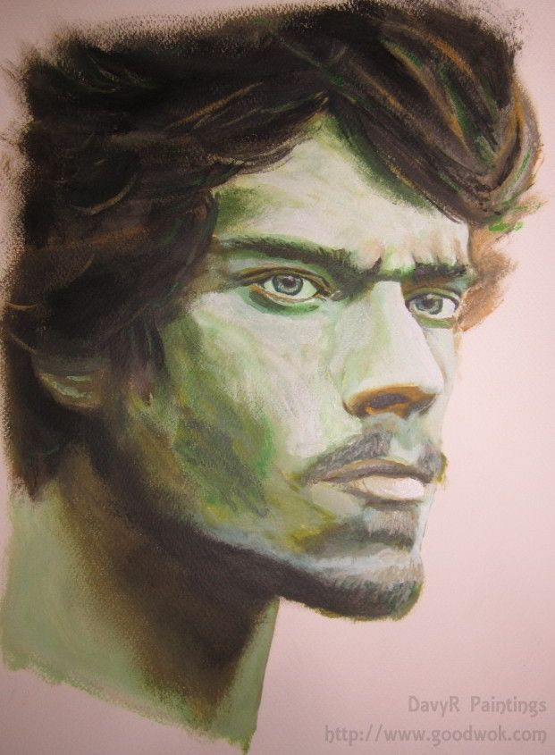 Theon Greyjoy, Game of Thrones Painting by DavyR