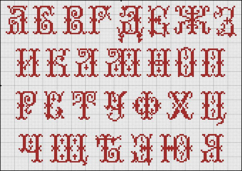 Скачать бесплатно шрифты для вышивок