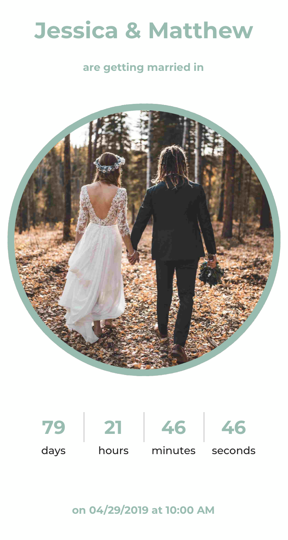 The Big Day Wedding Countdown Wedding Countdown Wedding Wedding Day