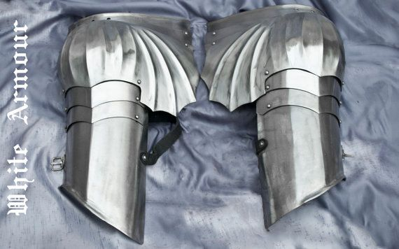 SCA combat winged Gothic pauldrons