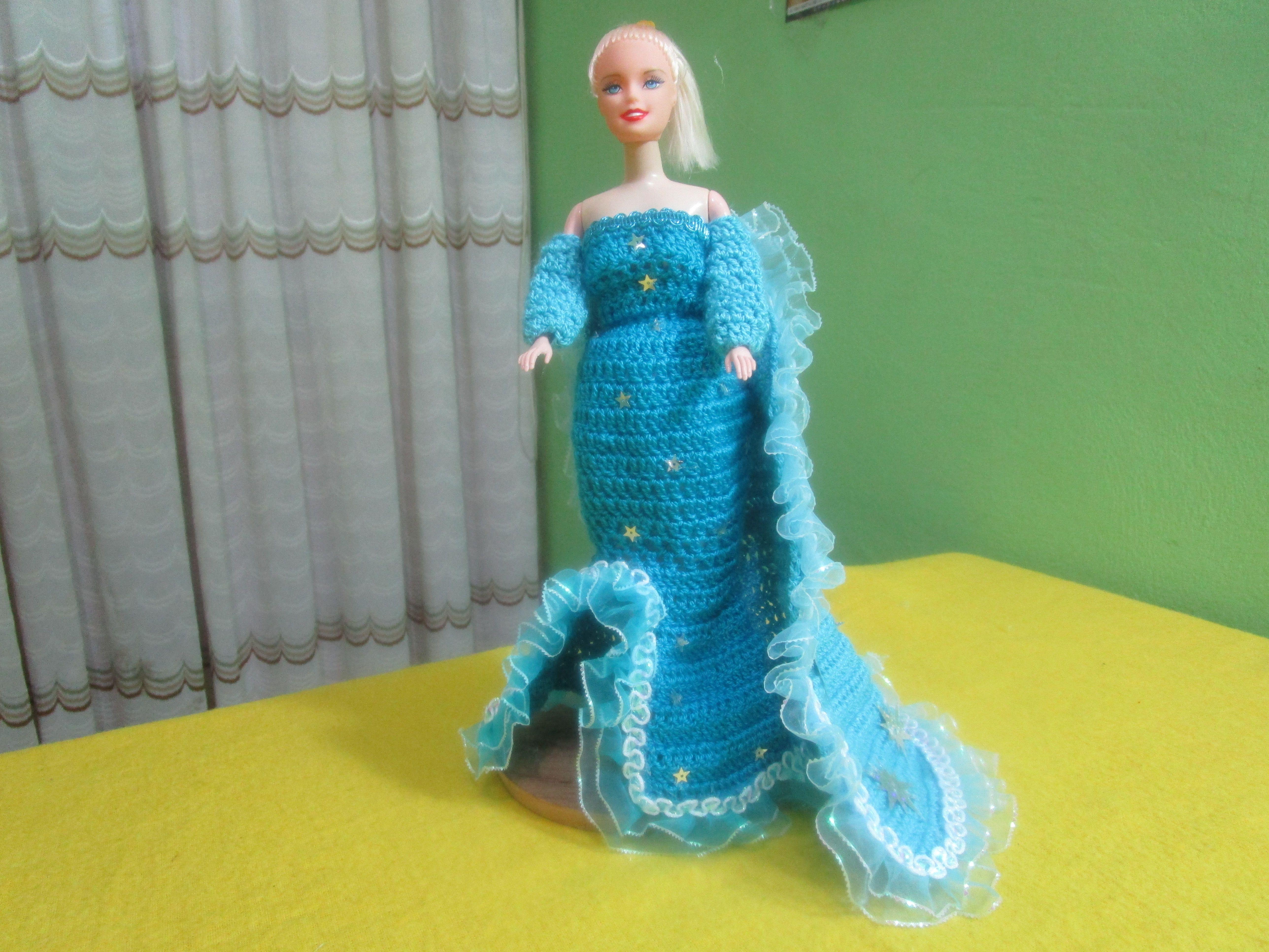 Vestimenta De Elza De Frozen Tejida a Crochet | Vestidos De ...