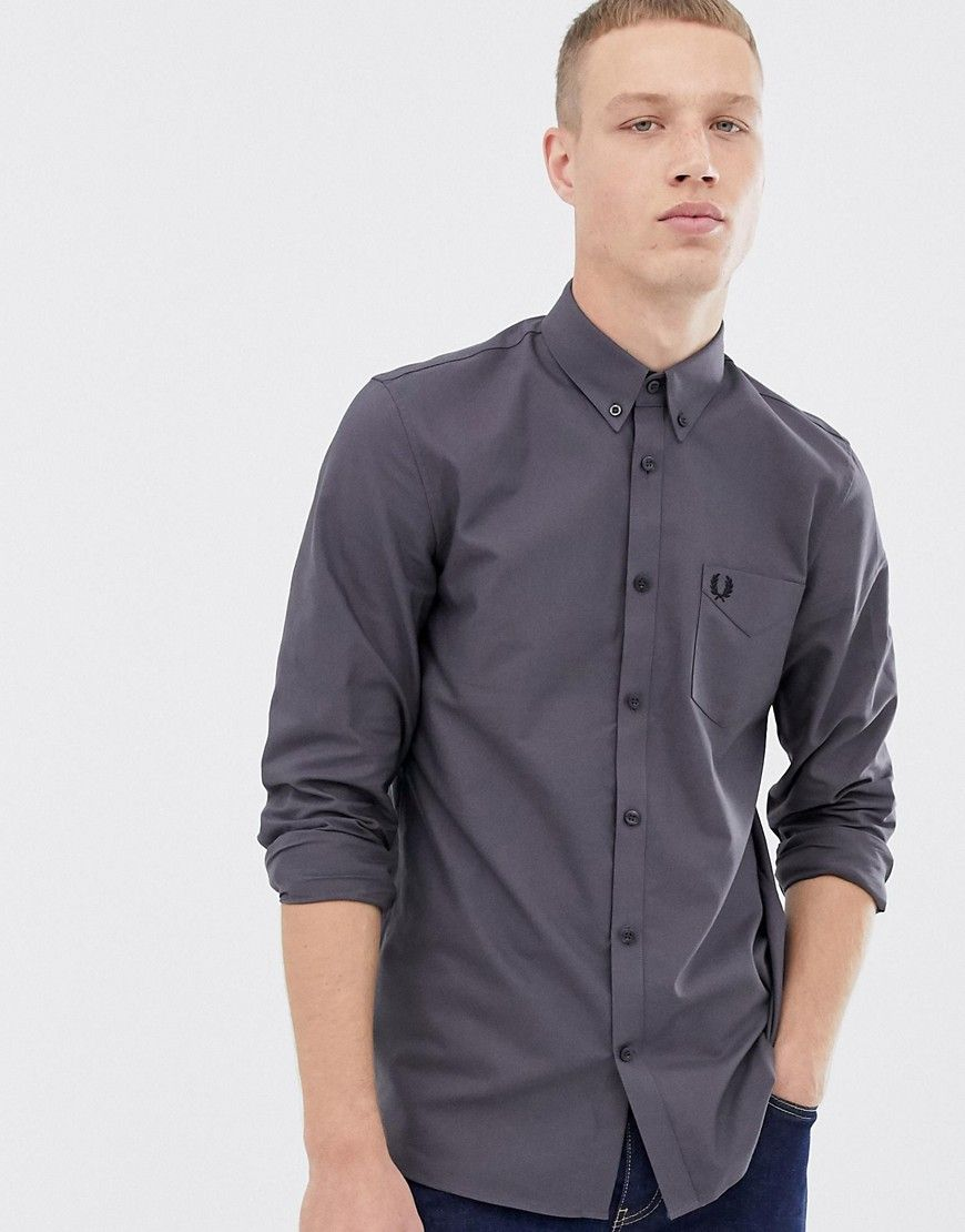 Fred Perry Oxford classic men/'s dark carbon shirt Mens Shirt Fred Perry Fred Pe