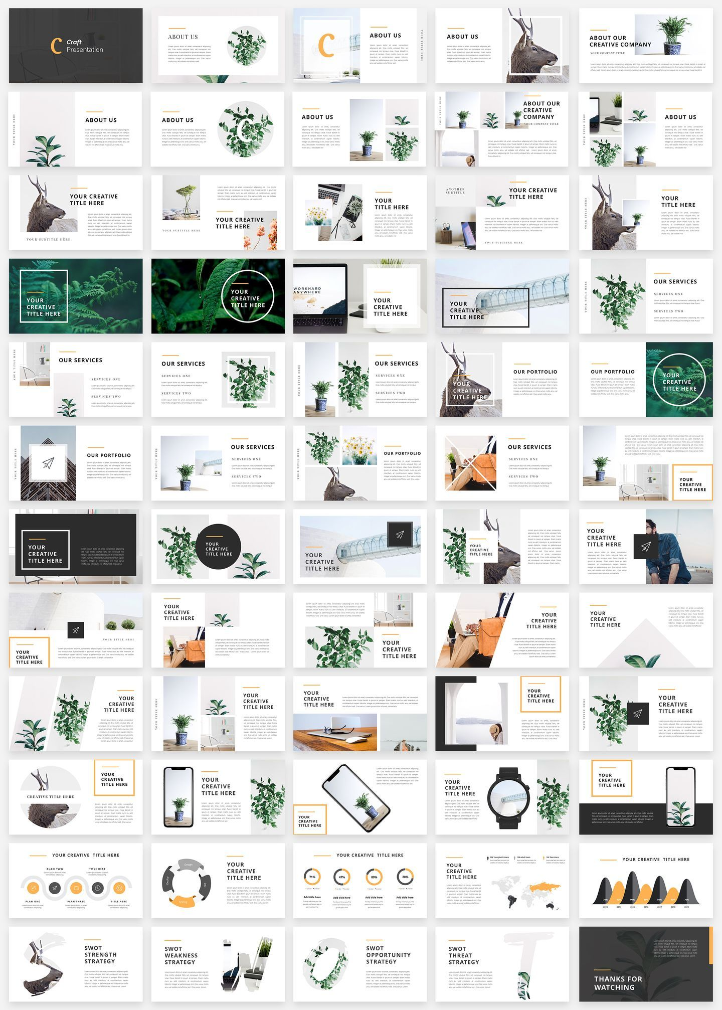 Craft Portfolio PowerPoint Template | ppt | Presentation design