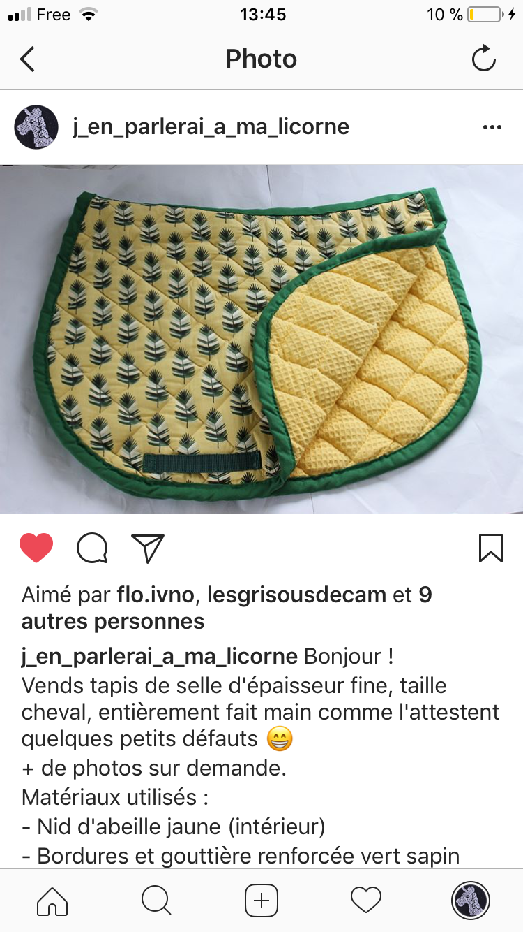 tapis de selle a vendre selle