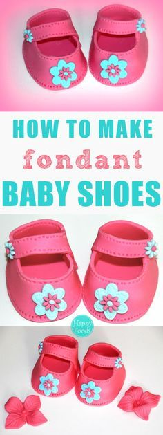 How To Make Fondant Baby Shoes (Video Tutorial) #cakedecoratingvideos