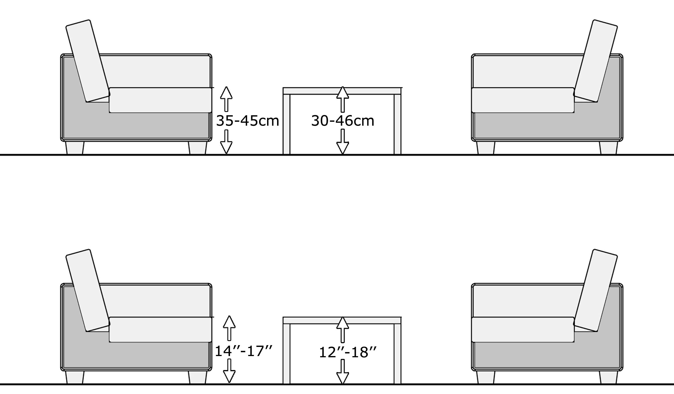 coffee table height, living room table height Coffee