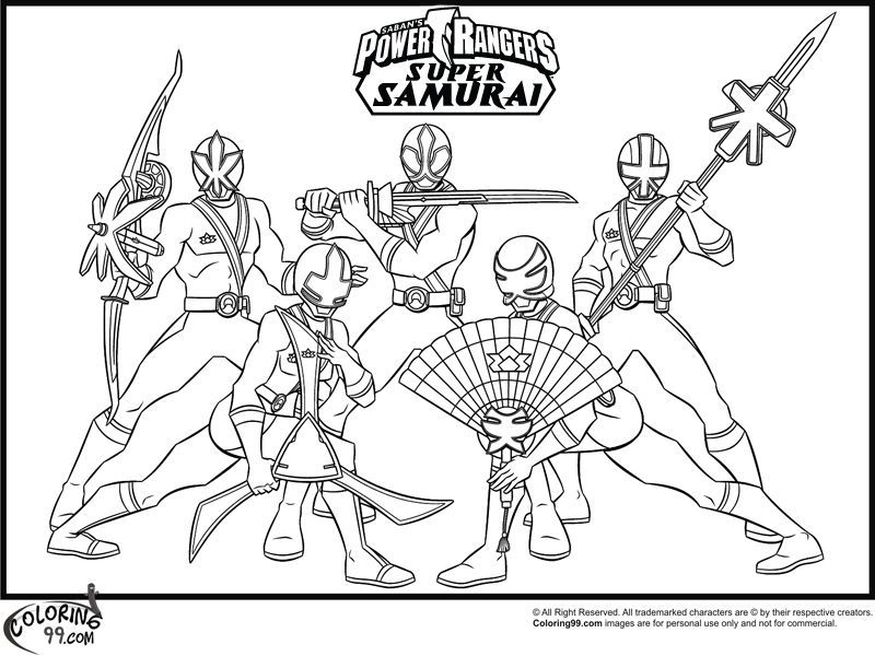 Power Rangers Samurai Coloring Pages | lalade | Pinterest