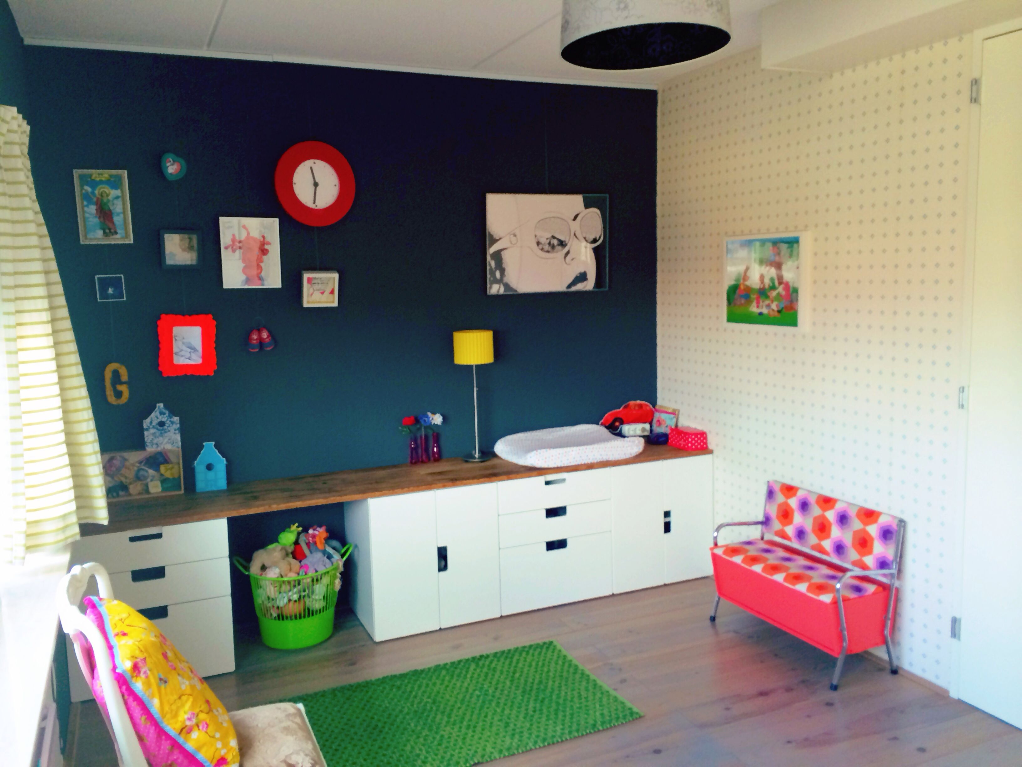 kid 39 s room ikea stuva storage with teak topping from toddler to youngster geertje. Black Bedroom Furniture Sets. Home Design Ideas