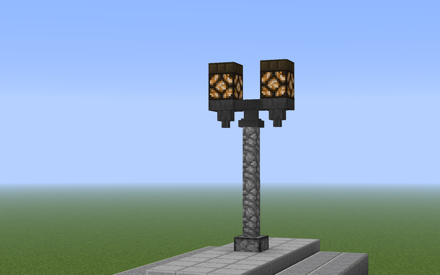 Minecraft lamp post using hoppers and an anvil with daylight minecraft lamp post using hoppers and an anvil with daylight sensors to power the redstone lamps aloadofball Images