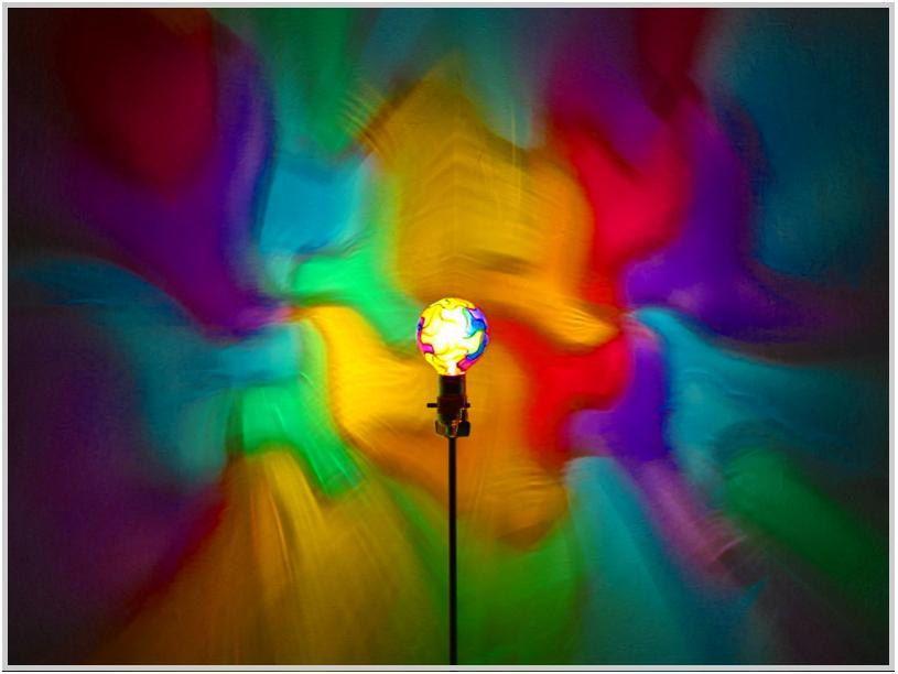 rainbow mosaic painted moodlight bulb 4night lightaccent light rainbow projection - Colored Light Bulbs