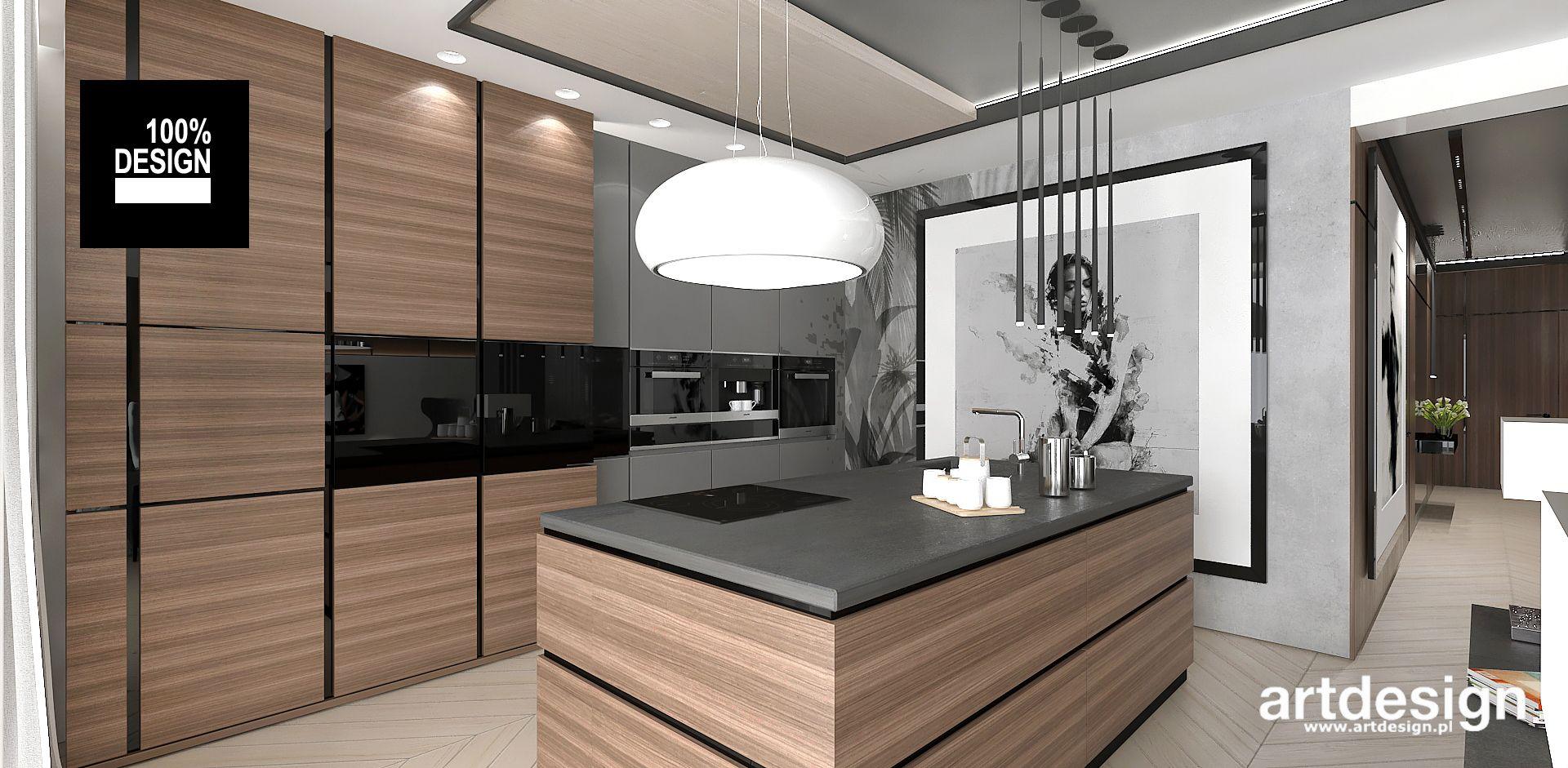 Foorni Pl Projekt Artdesign Projekt Kuchni Z Wyspa Wyspa Kuchnia Projekt Jadalnia Modern Interior Kitchen Home Decor Home Room Divider