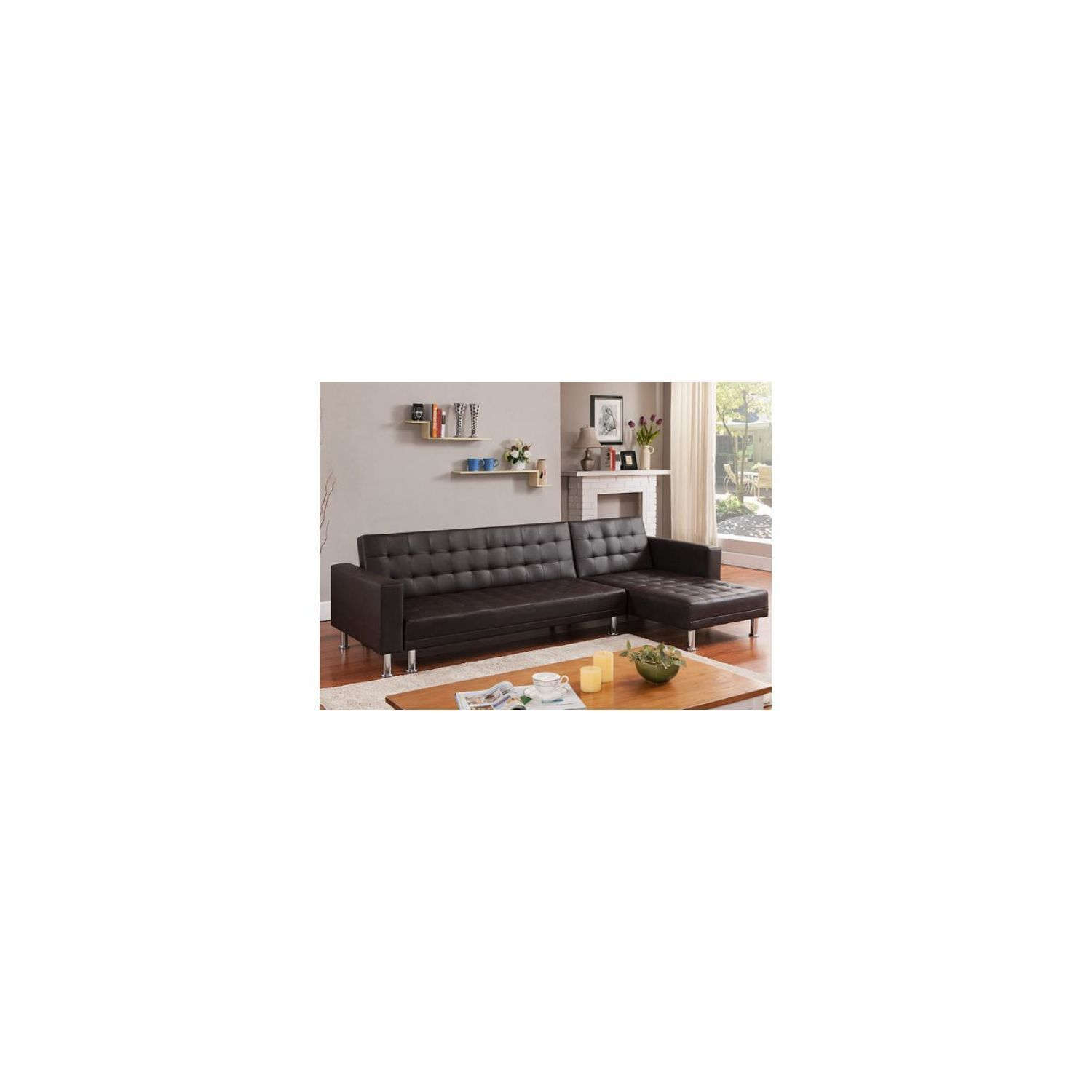 Declikdeco Canape D 39 Angle Convertible Marron Los Metal Simili Cuir Reversible Achat X2f Vente C French Country House House French Country
