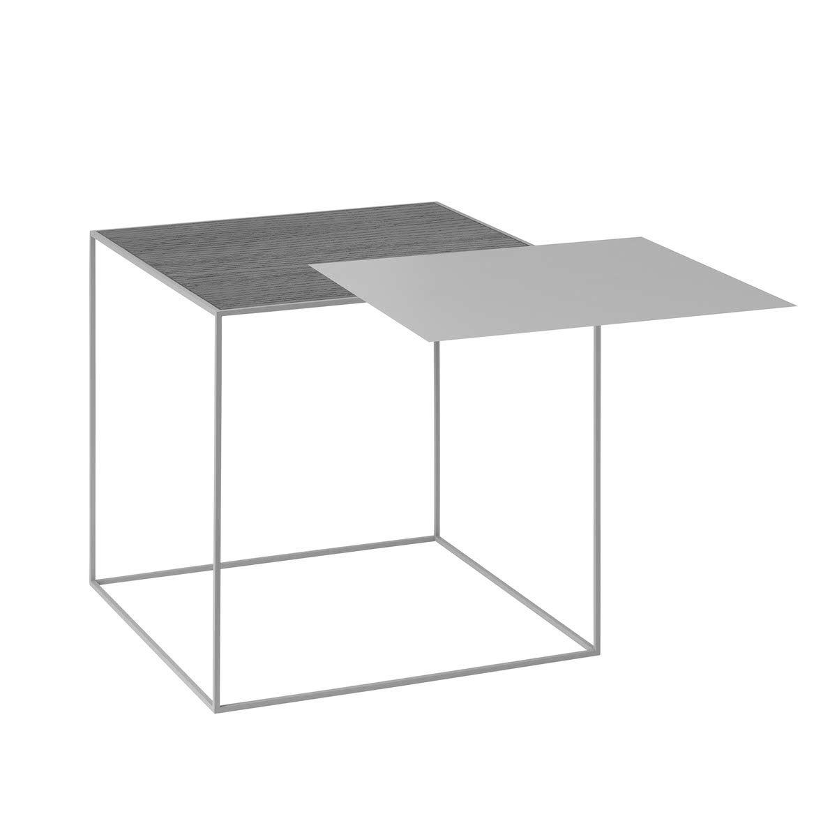 by Lassen - Twin 42 Beistelltisch, grauer Rahmen, schwarze Esche ...