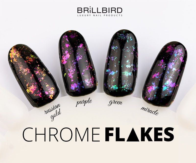Chrome Flakes - Miracle - Unghii False - BrillBird | Toenail Fungus ...