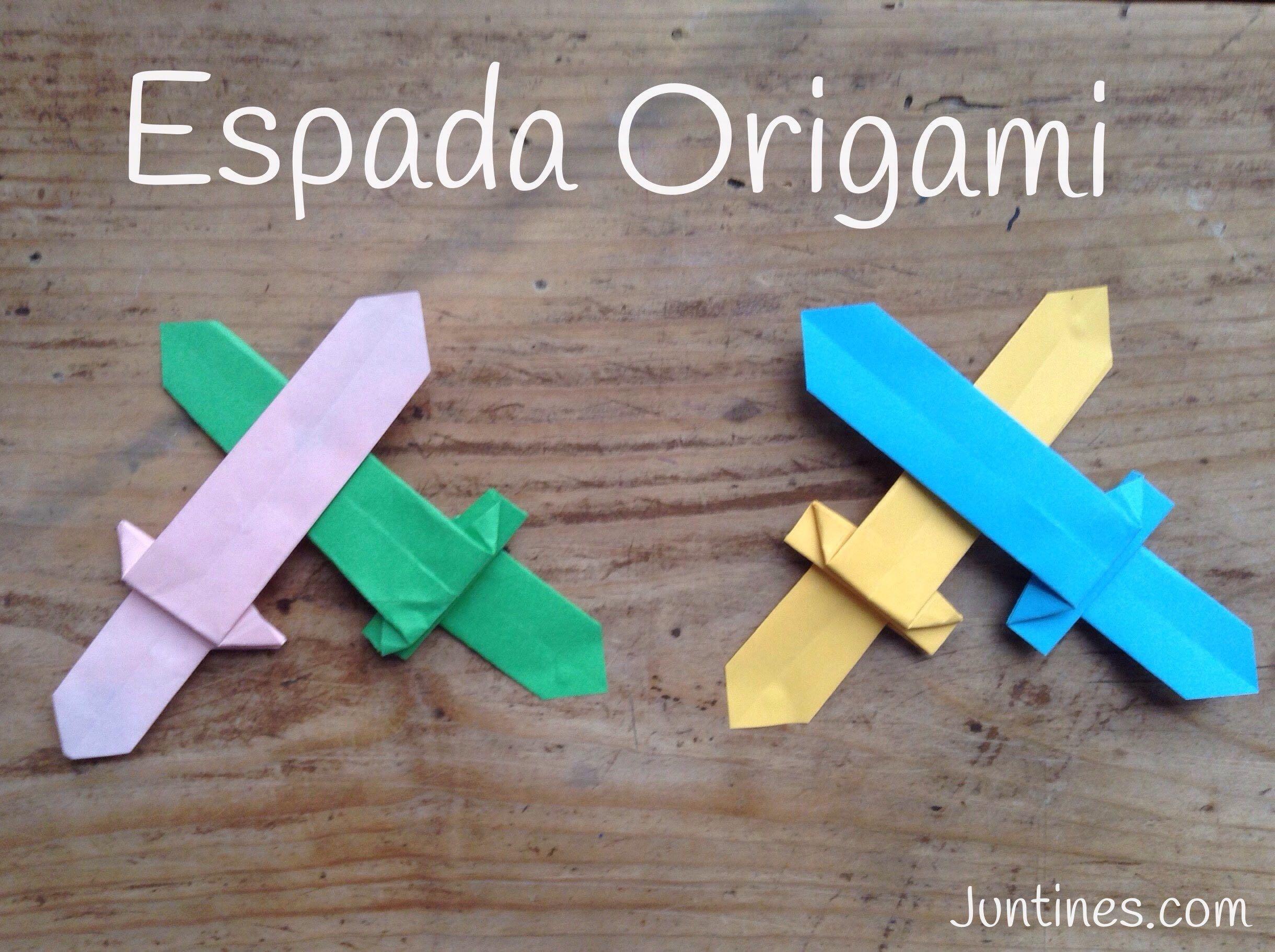 Espada de origami origami sword manualidades de papel - Papiroflexia paso a paso ...