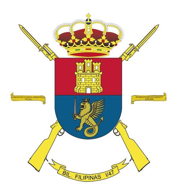 Batallon Infantería Ligera Filipinas 1/47 emblema Ejercito Español.