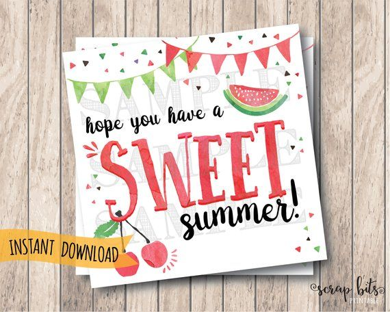 photograph about Have a Sweet Summer Printable titled Fast Down load Printable Adorable Summer season Tags, Count on Oneself Contain