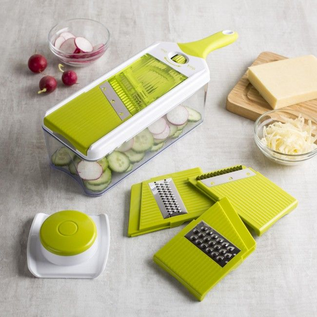 Ksp Chef's Mate Mandoline Slicer And Grater  Set Of 7 White Captivating Kitchen Mandoline Inspiration