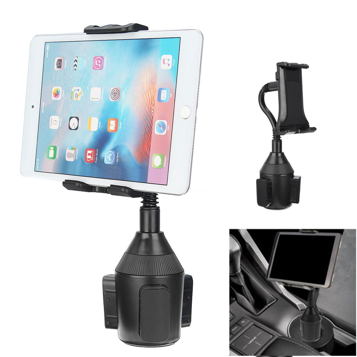 newest 08d09 5b20a Universal Car Cup Holder Mount Stand Adjustable Cradle For Mobile ...