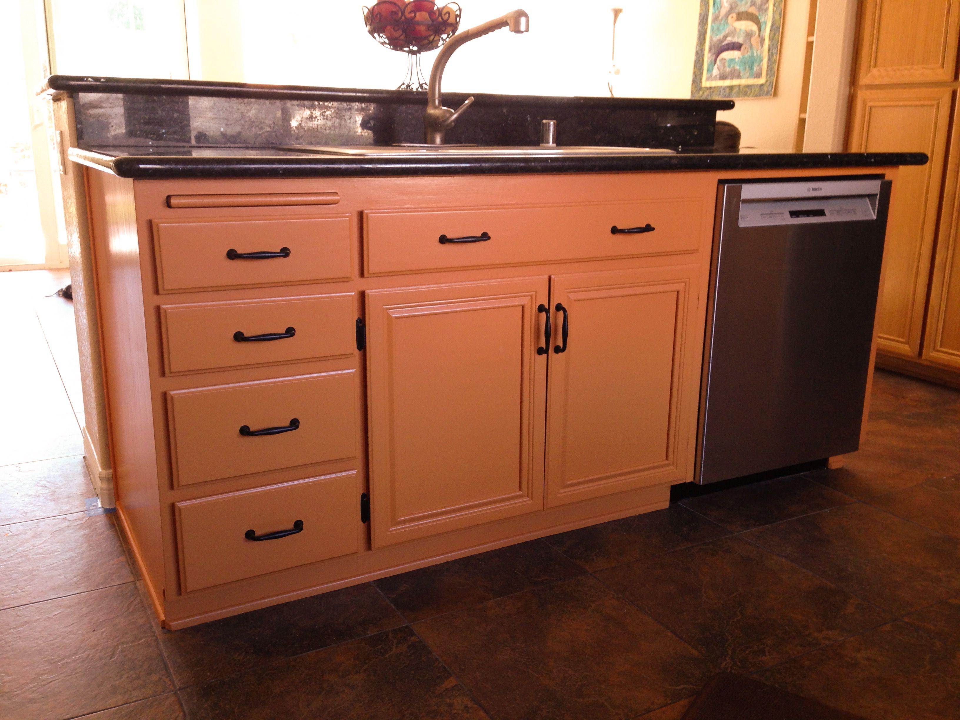 "kitchen island- paint color is martha stewart ""butterscotch"" | my"