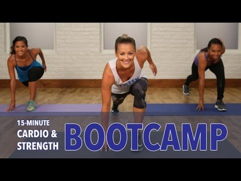 15-Minute Bootcamp Workout | Class FitSugar - YouTube