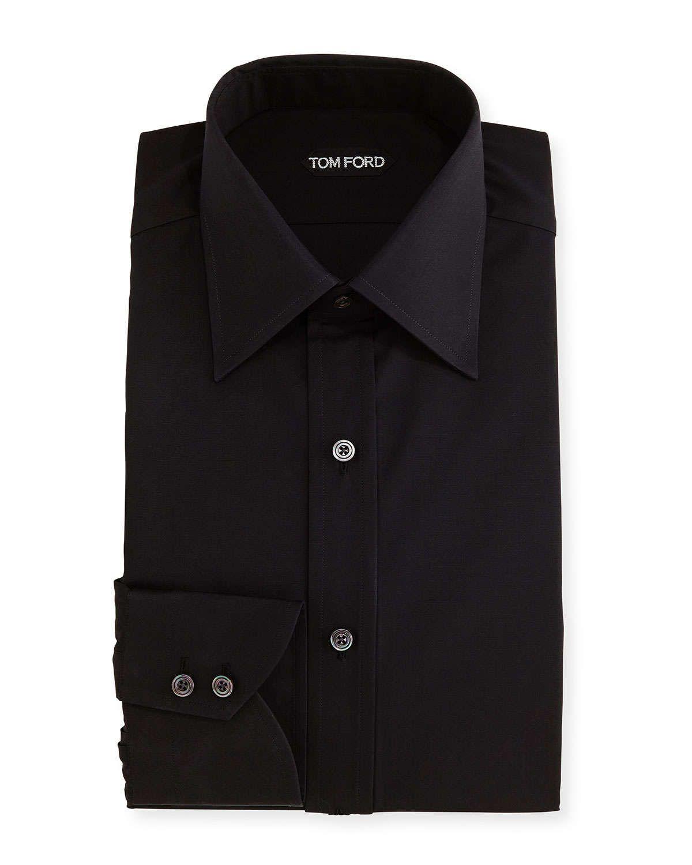 Tom Ford Classic Barrel Cuff Dress Shirt Black Black Shirt Dress Mens Shirt Dress Shirts [ 1500 x 1200 Pixel ]
