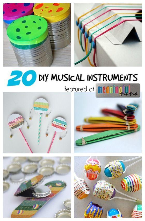 20 Diy Musical Instruments Fun Inspirations For Kidlets